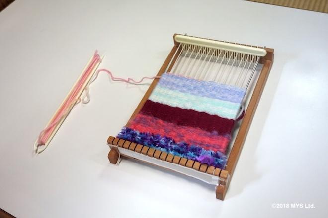 子どもの機織作品の一つ