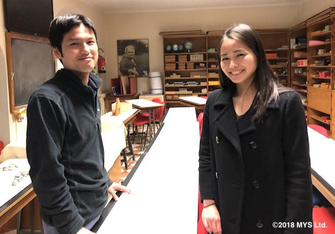 ベルガモ・モンテッソーリ教育のエレメンタリートレーニングセンターで勉強中の、日本人生徒たち