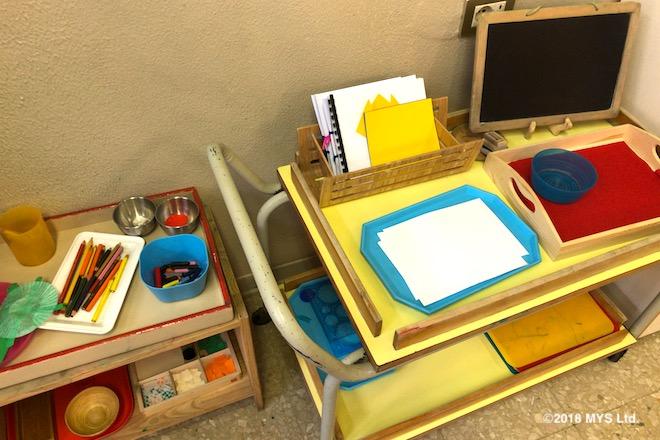 絵を描くための様々な道具