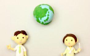 男女の先生と地球
