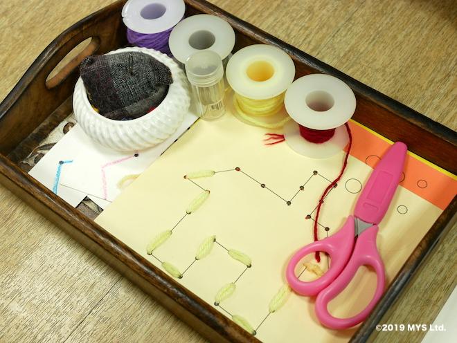 モンテッソーリ童円の縫いさしセット