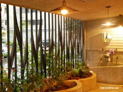Taipei Utopia Montessori Elementary School ウッドデッキの植物