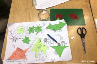 Taipei Utopia Montessori Elementary School の分数の教具を使った絵画作品
