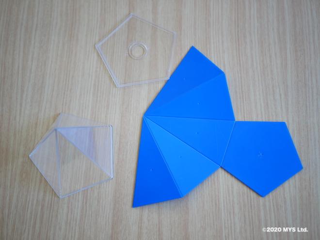 モンテッソーリ教育の幾何学で使われる五角錐の展開模型